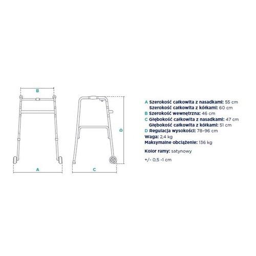 Balkonik trzyfunkcyjny (krocząco-statyczny) JMC-C 3222
