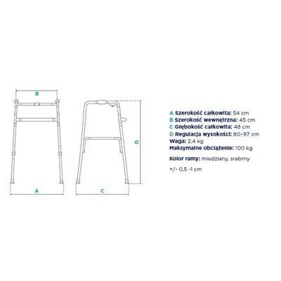 Balkonik dwufunkcyjny (krocząco-statyczny) FS 913L