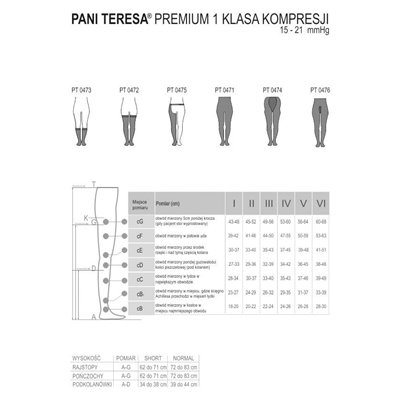 Rajstopy medyczne uciskowe PANI TERESA CCL1 Premium