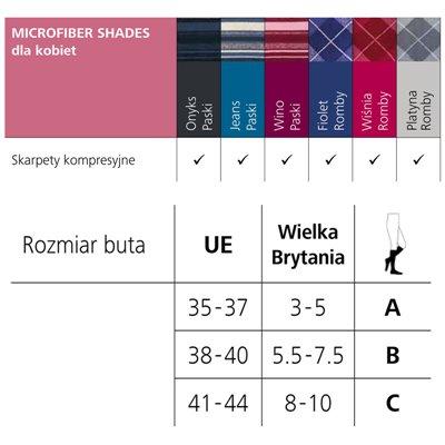 Podkolanówki kompresyjne dla kobiet z microfibrą.