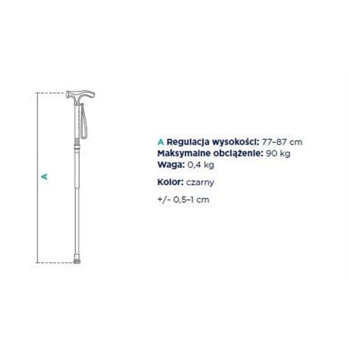 Laska inwalidzka aluminiowa z uchwytem anatomicznym FS 948L / FS 949L
